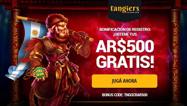 Llevate AR$500 al registrarte en el casino Tangiers