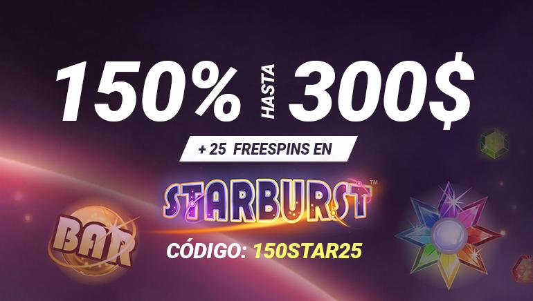 Oferta exclusiva: 25 tiradas gratis y bono del 150 % de hasta 300 $ en Bet90