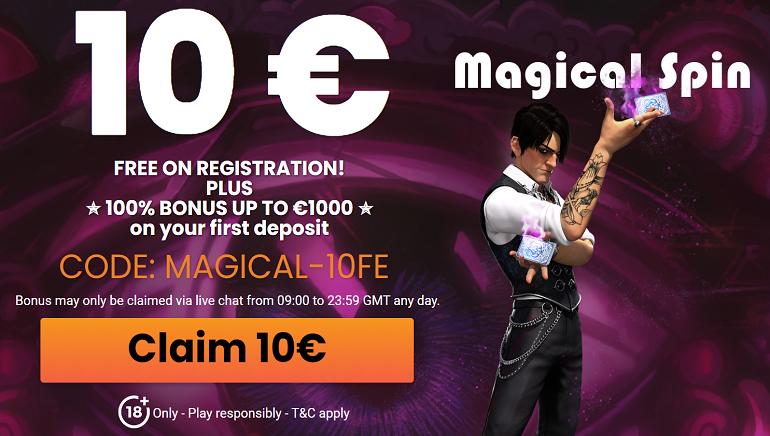 MagicalSpin da la bienvenida a los nuevos jugadores con 10 € gratis