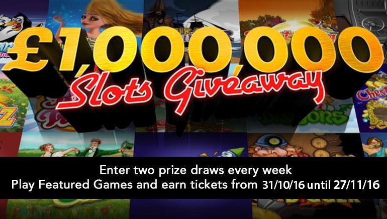 Gana una fortuna con el sorteo de tragamonedas de 1.000.000 $ este noviembre con bet365